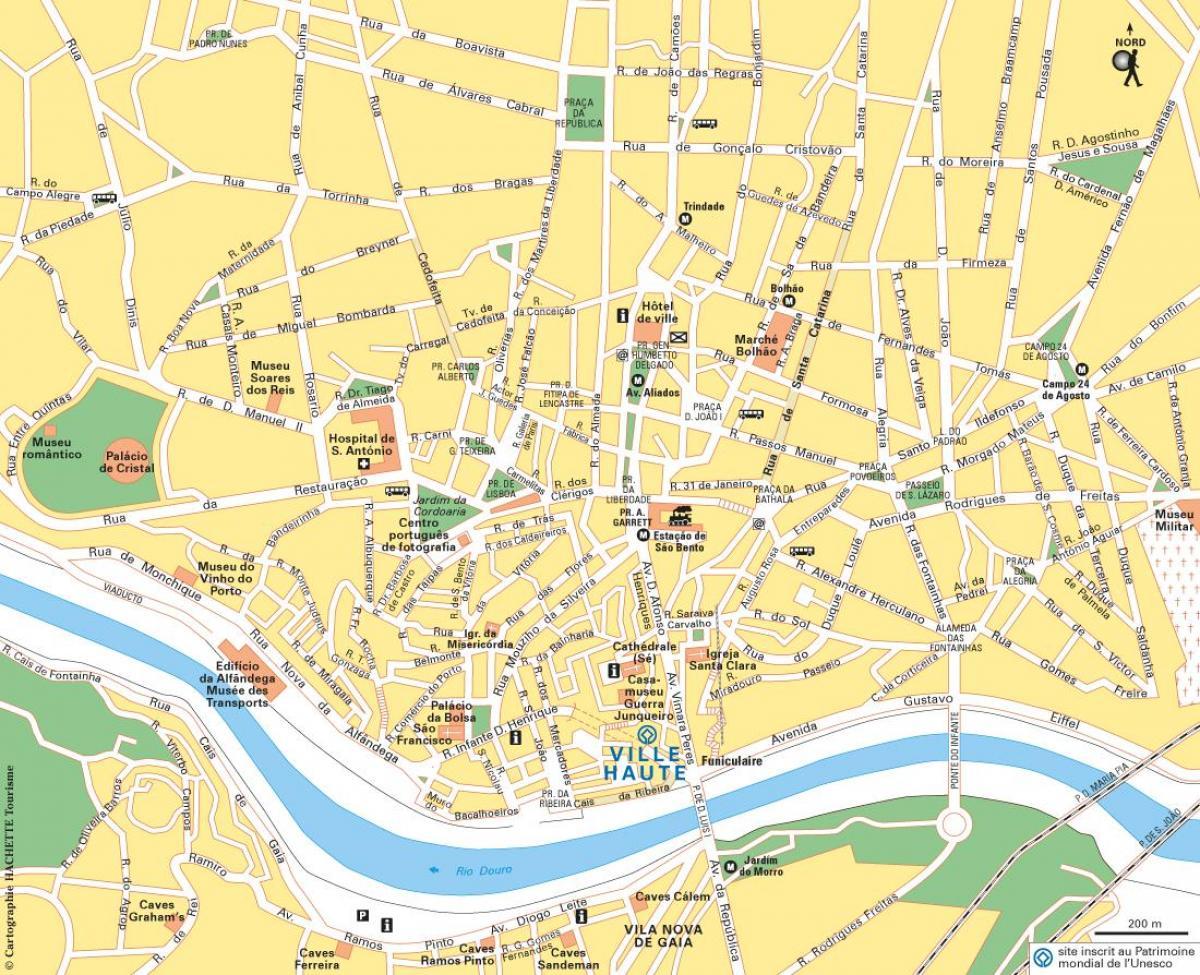 Oporto En El Mapa.Mapa De Porto Portugal Oporto En El Mapa De Portugal Europa Del Sur Europa
