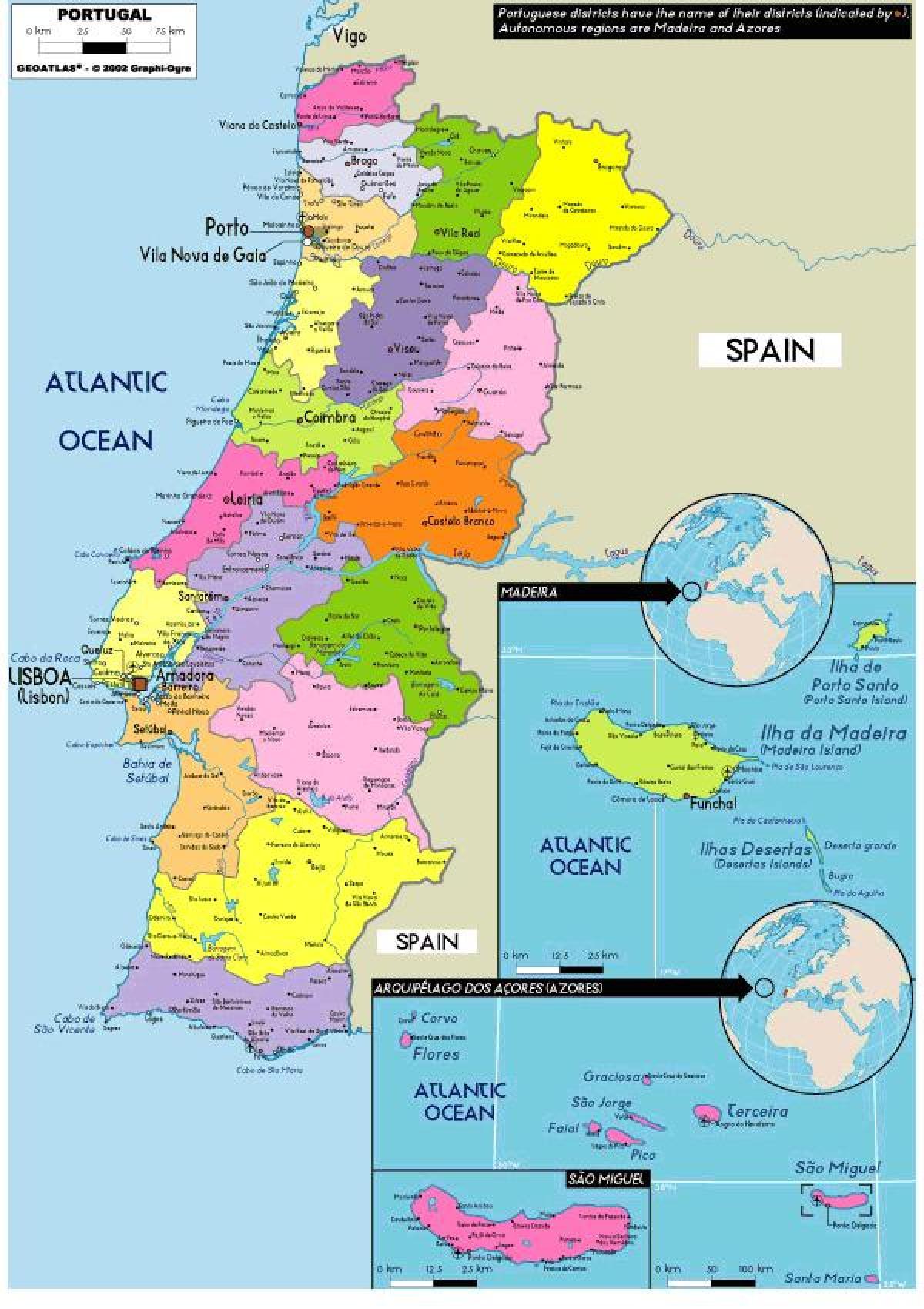 mapa portugal provincias Provincias De Portugal Mapa | thujamassages mapa portugal provincias